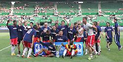 20.05.2012, Ernst Happel Stadion, Wien, AUT, OeFB Samsung Cup, FC Red Bull Salzburg vs SV Josko Ried, Finale, im Bild Freudentanz Stefan Maierhofer, (FC Red Bull Salzburg, #9), during the Austrian OeFB Samsung Cup, Final, between FC Red Bull Salzburg and SV Josko Ried at the Ernst Happel Stadion, Vienna, Austria on 20120520. EXPA Pictures © 2012, PhotoCredit: EXPA/ R. Hackl