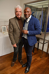 Left to right, NICKY HASLAM and DEREK LAUD at a lunch to promote the jewellery created by Luis Miguel Howard held at Morton's, Berkeley Square, London on 20th October 2016.