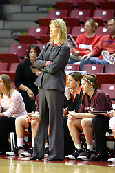 13 January 2007: Coach Katie Abrahamson-Henderson.  The Missouri State Bears lost to the Redbirds of Illinois State University at Redbird Arena in Normal Illinois by a score of 76-47.<br />