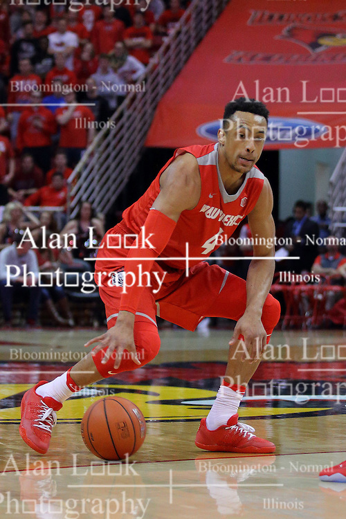 03 December 2016: Elijah Brown during an NCAA  mens basketball game between the New Mexico Lobos the Illinois State Redbirds in a non-conference game at Redbird Arena, Normal IL