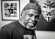 Owens Daniels displays his photographic work at the July Winston-Salem Gallery Hop