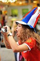 GEPA-2606087302 - WIEN,AUSTRIA,26.JUN.08 - FUSSBALL - UEFA Europameisterschaft, EURO 2008, Host City Fan Zone, Fanmeile, Fan Meile, Public Viewing. Bild zeigt einen Russland-Fan.<br />Foto: GEPA pictures/ Reinhard Mueller
