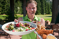 Melissa serves up great food at the Whistler Golf Course.