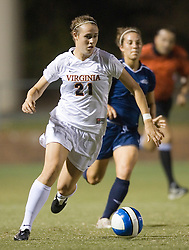 Virginia Cavaliers F Meghan Lenczyk (21)..The Virginia Cavaliers faced the Liberty Flames at Klockner Stadium in Charlottesville, VA on September 21, 2007
