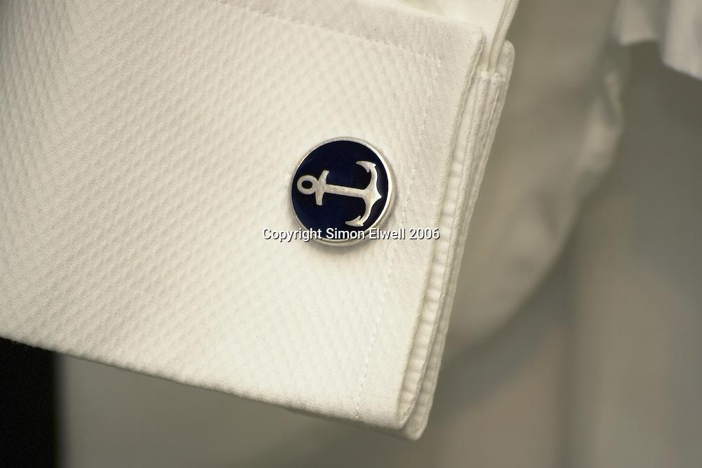Cuff Link in a pressed dress shirt