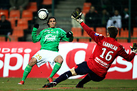 FOOTBALL - FRENCH CHAMPIONSHIP 2009/2010 - L1 - AS SAINT ETIENNE v LILLE OSC - 6/03/2010 - PHOTO ERIC BRETAGNON / DPPI -GOAL EMMANUEL RIVIERE (ASSE)