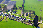 Nederland, Overijssel, Dedemsvaart, 01-05-2013; Lutten, watertoren met zadeldak<br /> Watertower in rural area.<br /> luchtfoto (toeslag op standard tarieven)<br /> aerial photo (additional fee required)<br /> copyright foto/photo Siebe Swart