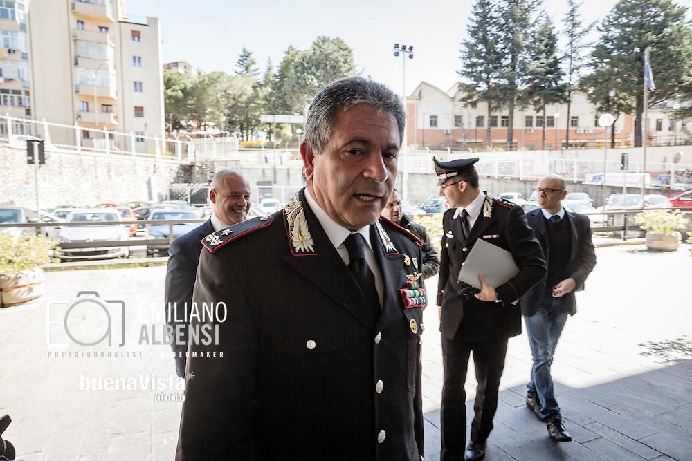 Potenza, Basilicata, Italia, 31/03/2016<br /> Il generale Sergio Pascali, al comando dei Carabinieri per la Tutela dell&rsquo;Ambiente<br /> <br /> Potenza, Basilicata, Italy, 31/03/2016<br /> General Sergio Pascali, on command of the Special Corps for Environment of
