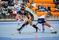 ROTTERDAM - Sosha Benninga (Adam)  dames Amsterdam-SCHC.   ,hoofdklasse competitie  zaalhockey.   COPYRIGHT  KOEN SUYK