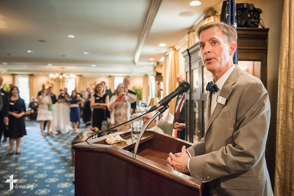 Tim Goeglein, former special assistant to the president and deputy director of the White House Office of Public Liaison under George W. Bush from 2001-2008, speaks during the Let's Talk Life, Marriage and Religious Liberty event on Tuesday, September 8, 2015, a the Capitol Hill Club in Washington, D.C. LCMS Communications/Erik M. Lunsford