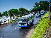 06 OCTOBER 2017 - EGODADUWA, SOUTHERN PROVINCE, SRI LANKA: Traffic on the Colombo - Galle highway.   PHOTO BY JACK KURTZ