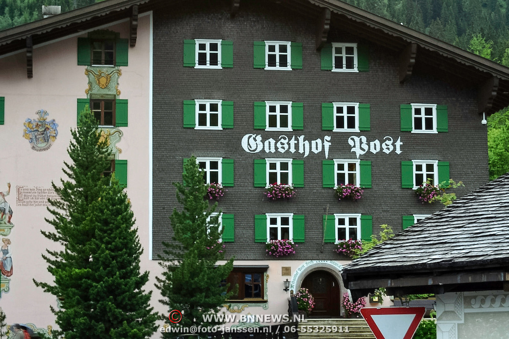 AUS/Lech/20140630 - Hotel Post in Lech Oostenrijk waar de Koninklijke Familie van Nederland al jarenlang verblijft tijdens de wintervakantie en de eigenaren persoonlijke vrienden zijn