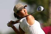 March 25, 2004; Rancho Mirage, CA, USA;  14 year old amateur Michelle Wie tees off at the 15th hole during the 1st round of the LPGA Kraft Nabisco golf tournament held at Mission Hills Country Club.  Wie finished the day tied for 7th with a 3 under par 69.<br />Mandatory Credit: Photo by Darrell Miho <br />&copy; Copyright Darrell Miho
