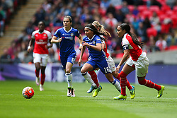 Ana Marques Borges of Chelsea Ladies breaks away from Alex Scott of Arsenal Ladies - Mandatory byline: Jason Brown/JMP - 14/05/2016 - FOOTBALL - Wembley Stadium - London, England - Arsenal Ladies v Chelsea Ladies - SSE Women's FA Cup
