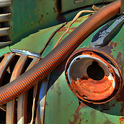 Tube And Rusted Headlight - Motor Transport Museum - Campo, CA