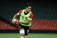 Toby Faletau in action. Wales rugby team training at the Millennium stadium,  Cardiff in South Wales on Thursday 15th November 2012.  pic by Andrew Orchard, Andrew Orchard sports photography,