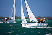 Viper Class racing during the Bacardi Miami Sailing Week regatta, day 6.
