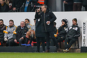 Forest Green Rovers manager, Mark Cooper during the EFL Sky Bet League 2 match between Newport County and Forest Green Rovers at Rodney Parade, Newport, Wales on 26 December 2018.