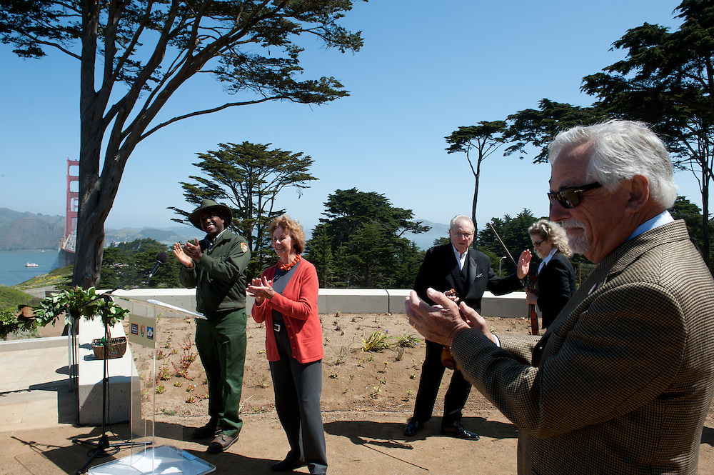 Ribbon cutting at the Golden Gate Overlook. Photographed for Campbell Grading