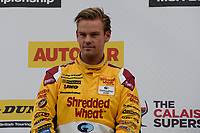 #3 Tom Chilton Team Shredded Wheat Racing with Gallagher Ford Focus RS during BTCC Race 1 Podium as part of the Dunlop MSA British Touring Car Championship - Rockingham 2018 at Rockingham, Corby, Northamptonshire, United Kingdom. August 12 2018. World Copyright Peter Taylor/PSP. Copy of publication required for printed pictures.