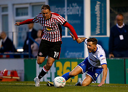 Aidan McGeady of Sunderland takes on Andrew Tutte of Bury - Mandatory by-line: Matt McNulty/JMP - 10/08/2017 - FOOTBALL - Gigg Lane - Bury, England - Bury v Sunderland - Carabao Cup - First Round