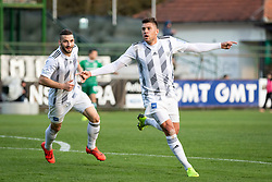 Amadej Maroša of Mura and Nino Kouter of Mura celebrating forst goal during football match between NŠ Mura and NK Domžale in 23rd Round of Prva liga Telekom Slovenije 2018/19, on March 02, 2019 in Fazanerija, Murska Sobota, Slovenia. Photo by Blaž Weindorfer / Sportida