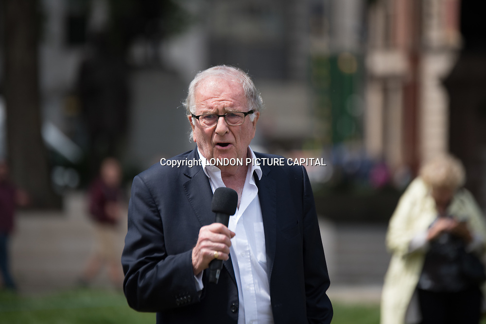 Speaker Sir Roger Gale rally to STOP Live Transport 2018 unnecessary suffering in Parliament Square June 14 2018, London, UK.