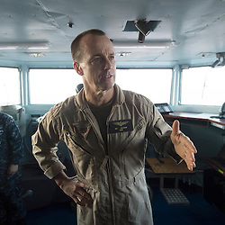 USS John C Stennis CVN-74 Aircraft Carrier.Pic Shows Rear Admiral Troy Shoemaker