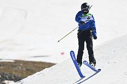 19.03.2017, Ski Stadium, Sierra Nevada, ESP, FIS Freestyle Ski and Snowboard WM, Sierra Nevada 2017, Slope Style Ski, im Bild Isabel Atkin (GBR) on her way to winning the bronze medal during the Women's Slope Style Ski Final // Isabel Atkin (GBR) on her way to winning the bronze medal during the Women's Slope Style Ski Final of the FIS Freestyle Ski & Snowboard World Championships 2017 at the Ski Stadium in Sierra Nevada, Spain on 2017/03/19. EXPA Pictures © 2017, PhotoCredit: EXPA/ Focus Images/ Kristian Kane<br /> <br /> *****ATTENTION - for AUT, GER, FRA, ITA, SUI, POL, CRO, SLO only*****