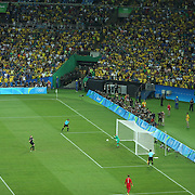 Football - Olympics: Day 15  Julian Brandt #11 of Germany scores from the penalty spot during the penalty shoot out beating Weverton #1 of Brazil during the Brazil Vs Germany Men's Football Gold Medal Match at Maracana on August 20, 2016 in Rio de Janeiro, Brazil. (Photo by Tim Clayton/Corbis via Getty Images)
