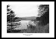 Photo of Blessington Lake in Wicklow. Black and white images of Ireland are the perfect gift idea for someone who loves the Irish landscape and nature.