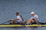Sarasota. Florida USA.  NOR M2X.  Bow. Kjetil BORCH and Olaf TUFTE. Semi Final A/B. 2017 World Rowing Championships, Nathan Benderson Park<br /> <br /> Friday  29.09.17   <br /> <br /> [Mandatory Credit. Peter SPURRIER/Intersport Images].<br /> <br /> <br /> NIKON CORPORATION -  NIKON D500  lens  VR 500mm f/4G IF-ED mm. 200 ISO 1/640/sec. f 7.1