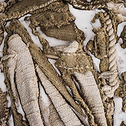 Discovery Hut sail cloth and rope detail