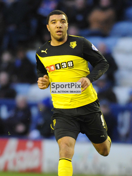 Troy Deeney, Watford, Leicester City v Watford, Sky Bet Championship, Saturday 8th Febuary 2014