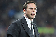 Derby County manager Frank Lampard looks on during the EFL Sky Bet Championship match between Derby County and Wigan Athletic at the Pride Park, Derby, England on 5 March 2019.
