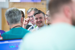 © Licensed to London News Pictures. 26/01/2018. Lancaster, UK. Shadow Health Secretary JONATHAN ASHWORTH MP (pictured in the A&E department) and Lancaster and Fleetwood MP Cat Smith visit Lancaster Royal Infirmary and tour Accident and Emergency and the wards on a day when the A&E department at the hospital was at 100% of capacity with no spare cubicles . Labour say the NHS is in crisis in the North West with patients waiting in ambulances outside hospitals for over an hour and hospitals running out of beds. Photo credit: Joel Goodman/LNP