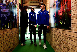 Tareiq Holmes-Dennis of Bristol Rovers and Luke Leahy of Bristol Rovers arrives at  prior to kick off - Mandatory by-line: Ryan Hiscott/JMP - 08/02/2020 - FOOTBALL - Adam's Park - High Wycombe, England - Wycombe Wanderers v Bristol Rovers - Sky Bet League One
