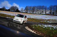 Picture By Jim Wileman  10/02/2009  The Abarth 500 UK p[ress event. The Abarth is seen driving along the Gurston Down Hill Climb in Dorset. RE: John Grifiths piece.