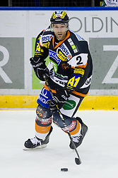 Rodney Coleman Jarrett (Moser Medical Graz 99ers, #2) during of ice-hockey match between Moser Medical Graz 99ers and HDD Tilia Olimpija in 11th Round of EBEL league, on October 14, 2011 at Eisstadion Graz-Liebenau, Graz, Austria. (Photo By Matic Klansek Velej / Sportida)