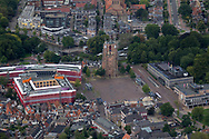 Oldehoofsterkerkhof Leeuwarden met Stadskantoor en bouw van het interactief bezoekers- en taalbelevingscentrum OBE