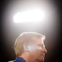JACKSONVILLE, Fla, (November 8, 2012) -- NFL commissioner Roger Goodell walks the sidelines during a NFL game between the Jacksonville Jaguars and Indianapolis Colts in Jacksonville, Fla., on Thursday, November 8, 2012.   (PHOTO / CHIP LITHERLAND)