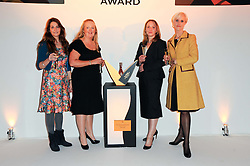 Left to right, award finalists VICTORIA STAPLETON, GILL RILEY, LOUISE WYMER and LAURA TENISON at the presentation of the Veuve Clicquot Business Woman Award 2010 held at the Institute of Contemporary Arts, 12 Carlton House Terrace, London on 23rd March 2010.  The winner was Laura Tenison - Founder and Managing Director of JoJo Maman Bebe.