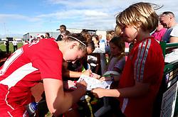 Millie Turner of Bristol City Women signs autographs for fans - Mandatory by-line: Robbie Stephenson/JMP - 03/06/2017 - FOOTBALL - Stoke Gifford Stadium - Bristol, England - Bristol City Women v Arsenal Ladies - FA Women's Super League Spring Series
