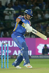 April 18, 2018 - Jaipur, Rajasthan, India - Rajasthan Royals batsman D'Arcy Short plays a shot during the IPL T20 match against Kolkata Knight Riders at Sawai Mansingh Stadium in Jaipur on 18 April,2018.(Photo By Vishal Bhatnagar/NurPhoto) (Credit Image: © Vishal Bhatnagar/NurPhoto via ZUMA Press)