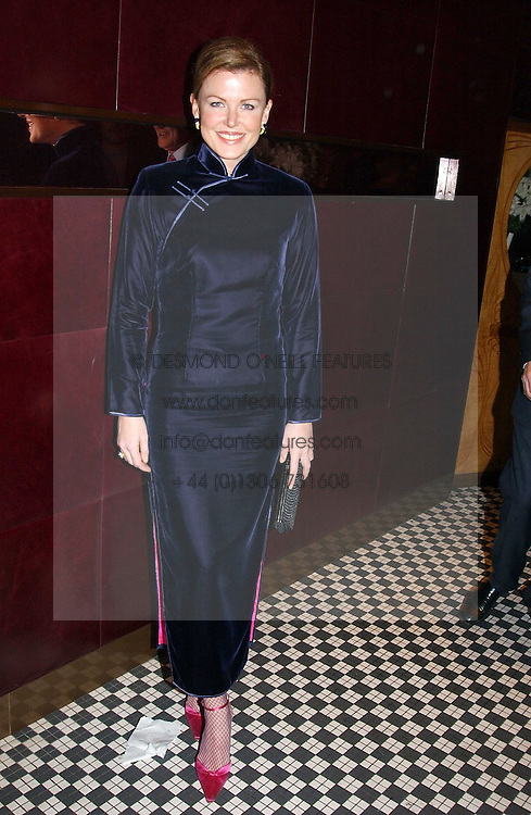EIMEAR MONTGOMERIE at a fund raising dinner hosted by Marco Pierre White and Frankie Dettori's in aid of Conservative Party's General Election Campaign Fund held at Frankie's No.3 Yeoman's Row,¾London SW3 on 17th January 2005.<br /><br />NON EXCLUSIVE - WORLD RIGHTS