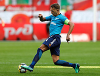 MOSCOW, RUSSIA - MAY 05: Domenico Criscito of FC Zenit Saint Petersburg in action during the Russian Football League match between FC Lokomotiv Moscow and FC Zenit Saint Petersburg at RZD Arena on May 5, 2018 in Moscow, Russia.