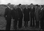 Taoiseach Visits Peatland Developments.  (K71)..1976..22.11.1976..11.22.1976..22nd November 1976..An Taoiseach, Liam Cosgrave TD, visited several peatland developments in Counties, Laois, Offaly and Kildare. The purpose of the visit was to see how the farming community were managing to recover lands for agriculture after Bord na Mona was finished harvesting there..Many problems were outlined to the Taoiseach regarding title of the land and the effects of industry (Bord na Mona and E.S.B.)leaving the area. Questions were also raised in relation to grants etc which would be available to improve the area (eg drainage)for farming..As many were of the areas were seen to be disadvantaged it was hoped that intervention from the E.E.C. would be available..The series of pictures shows the Taoiseach viewing the area and meeting with all the interested parties..