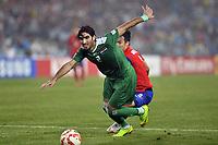 Fotball<br /> Asia Cup / Asiamesterskapet<br /> 26.01.2015<br /> Irak v Sør Korea<br /> Semifinale<br /> Foto: imago/Digitalsport<br /> NORWAY ONLY<br /> <br /> Sydney, Australia. AFC Asian Cup Semi Final. Korea Republic v Iraq. Iraqi defender Ahmad Ibrahim. Korea won the game on 2-0