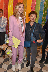 Arizona Muse and Helen McCrory at a cocktail supper hosted by BOTTLETOP co-founders Cameron Saul & Oliver Wayman, along with Arizona Muse, Richard Curtis & Livia Firth to launch the #TOGETHERBAND campaign at The Quadrant Arcade on April 24, 2019 in London, England.<br /> <br /> ***For fees please contact us prior to publication***
