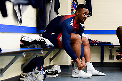 Raphell Thomas-Edwards of Bristol Flyers in the changing room prior to tippled off - Photo mandatory by-line: Ryan Hiscott/JMP - 17/01/2020 - BASKETBALL - SGS Wise Arena - Bristol, England - Bristol Flyers v London City Royals - British Basketball League Championship